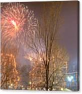 Firstnight Fireworks Canvas Print