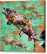 Fish And Bourbon Canvas Print