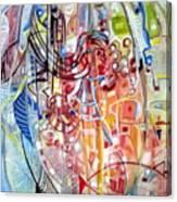 Fish And Shapes Canvas Print