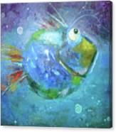 Fish Blue Canvas Print
