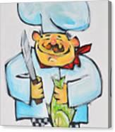 Fish Chef Canvas Print