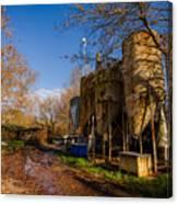 Fish Farm At Autumn Canvas Print