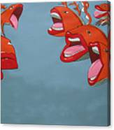 Fish Fight Canvas Print