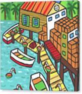 Fish House-cedar Key Canvas Print