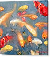 Fish In A Lake Canvas Print