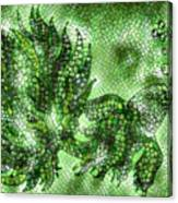 Fish In Green Mosaic 2 Canvas Print