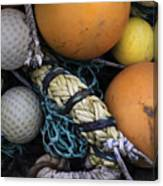 Fish Netting And Floats 0129 Canvas Print