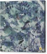 Fish Thrashing Canvas Print