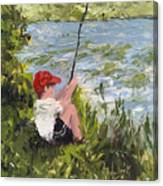 Fisher Boy Canvas Print