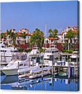 Fisher Island Miami Private Marina Canvas Print