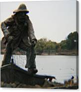 Fisher Statue Canvas Print
