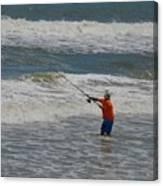 Fisherman And The Sea Canvas Print