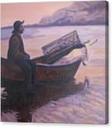 Fisherman At Good Harbor Beach Gloucester Circa 1880 Canvas Print