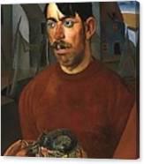 Fisherman Boris Grigoriev Canvas Print