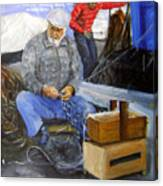 fisherman from Mola di Bari Canvas Print