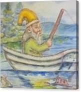 Fishing Around Canvas Print