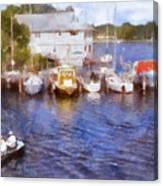 Fishing At The Marina Canvas Print