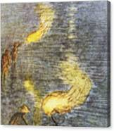 Fishing At Twilight Canvas Print