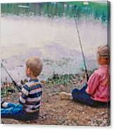 Fishing At Watkins Mill Canvas Print