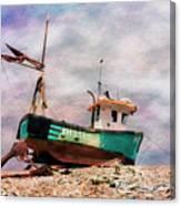 Fishing Boat At Aldeburgh Canvas Print