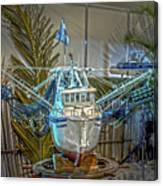 Fishing Boat Hdr 1 Canvas Print