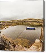 Fishing Boat In Lambs Head Harbor Canvas Print