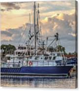 Fishing Boat In Port Canvas Print