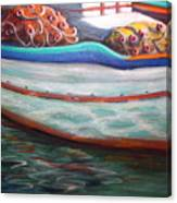 Fishing Boatgreek  Canvas Print