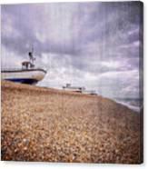 Fishing Boats At Dungeness Canvas Print