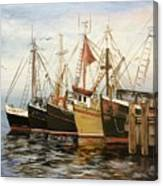 Fishing Boats At Hh Canvas Print