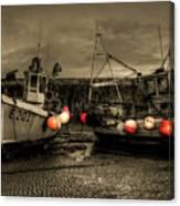 Fishing Boats At Lyme Regis Canvas Print