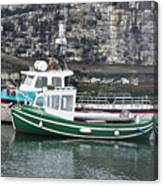 Fishing Boats Clarnlough Northern Ireland Canvas Print