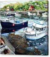 Fishing Boats In Lanes Cove Gloucester Ma Canvas Print