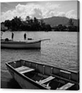 Fishing Boats In Mahebourg  Canvas Print