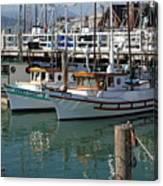 Fishing Boats In San Francisco Canvas Print