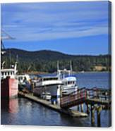 Fishing Boats In Sooke Canvas Print