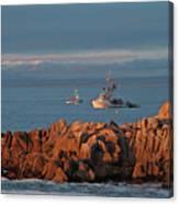 Fishing Boats On Monterey Bay Canvas Print
