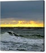 Fishing Boats On The Horizon Canvas Print