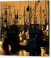 Fishing Boats Sunset Light Canvas Print