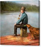 Fishing - Booze Hound 1922 Canvas Print