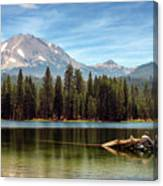 Fishing By Mount Lassen Canvas Print