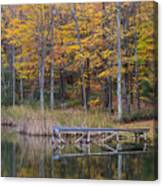 Fishing Dock In The Fall Canvas Print
