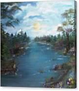 Fishing Dock  Canvas Print