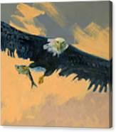 Fishing Eagle Canvas Print