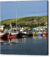 Fishing Fleet At Dingle, County Kerry, Ireland Canvas Print