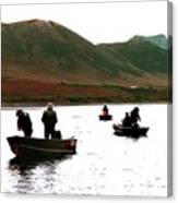Fishing For Salmon - Karluck River - Kodiak Island Alaska Canvas Print