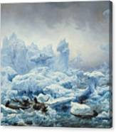 Fishing For Walrus In The Arctic Ocean Canvas Print