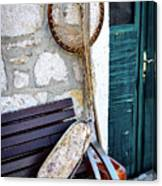 Fishing Gear In Primosten, Croatia Canvas Print