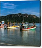 Fishing Harbour Canvas Print