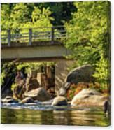 Fishing In Deer Creek Canvas Print